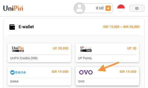 top up bayar pakai OVO