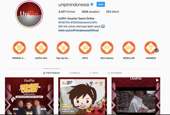 Instagram UniPin Indonesia