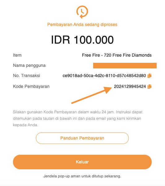 kode pembayaran Indomaret