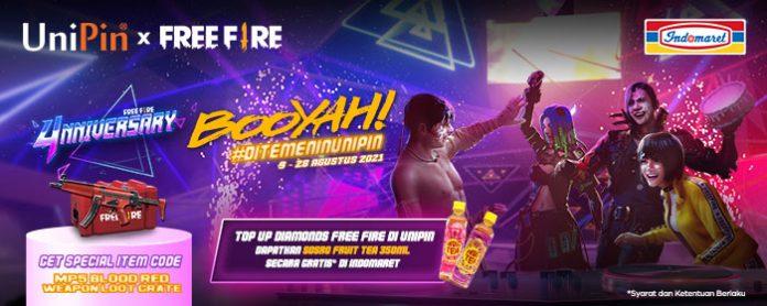 promo FF, UniPin, Indomaret - Agustus 2021
