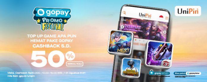 promo gopay UniPin Agustus 2021