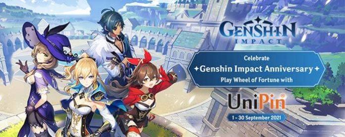 promo top up Genshin Impact UniPin