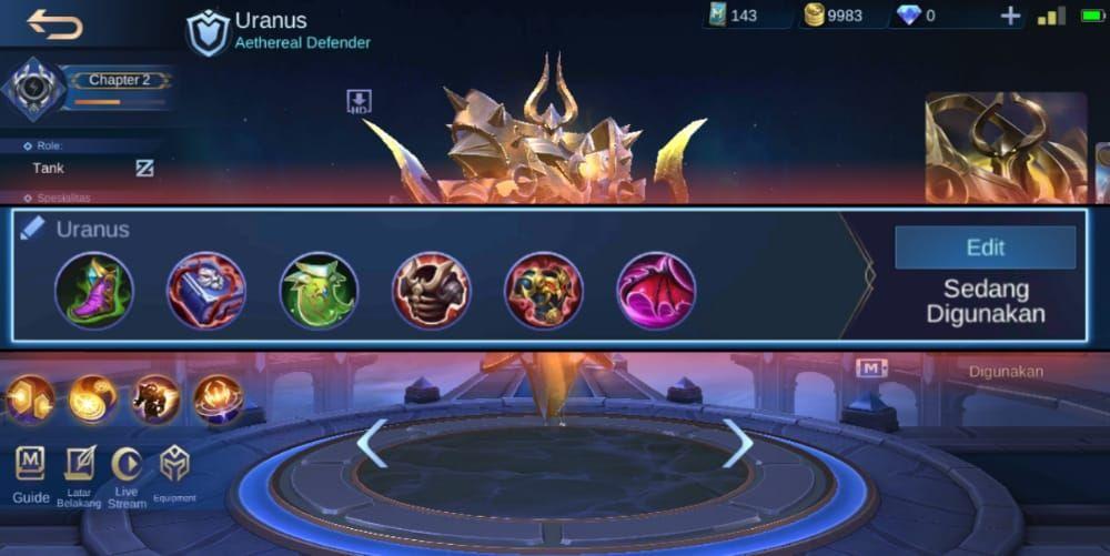 Combo Skill Uranus