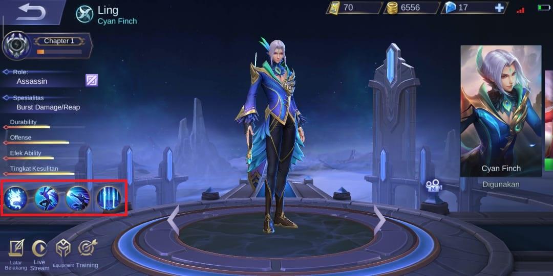 Ling Mobile Legend Emblem, Skill, Spell, dan Counter