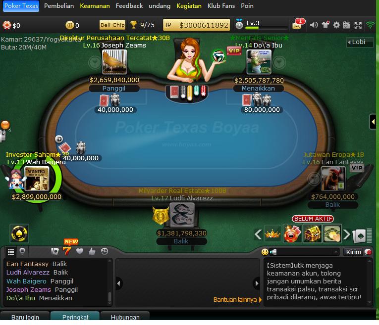 game poker texas boya